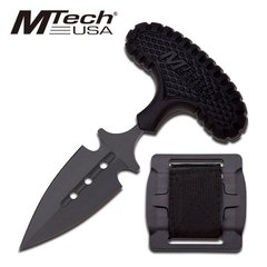 "MTech ""Plain Sight"" Black Dual Neck Knife w/ Belt Buckle Sheath"