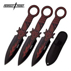 "Perfect Point ""Dragon's Fang"" Throwing Knife Set"