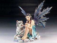Ice Fairy w/ White Tiger Figurine