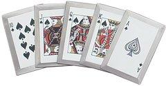 Royal Flush Throwing Card Set / Black