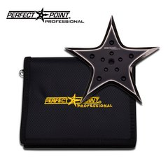 "Perfect Point Professional ""Dark Matter"" Heavy Duty Black Throwing Star"