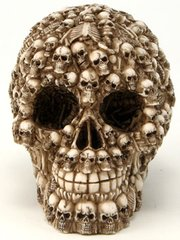Decorated Skull Figurine- 5""