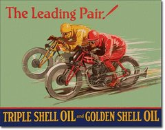 "Shell ""The Leading Pair!"" Metal Sign"