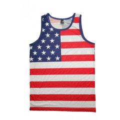 Men's American Flag Tank Top