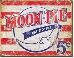 Moon Pie American Flag Metal Sign