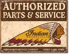 Nostalgic Retro Metal Sign - Authorized Indian Parts & Service