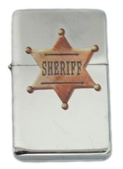 Old West Sheriff Star Lighter