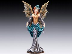 """Steampunk Lady with Wings 12"""" Figurine"""