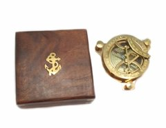 Brass Plated Sundial in Gift Box