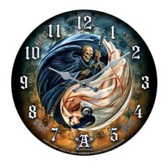 Versus Doctrinus by Alchemy Gothic Life and Death-Wall Clock