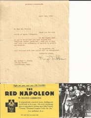 Award-Winning, Colorful War Correspondent Floyd Gibbons Writes to Well Wisher