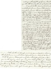 1860 Letter: Mother Expresses Sadness over Sickness to Teacher-Son at Sligo Plantation in Mississippi