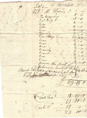 Group of Tavern, Liquor Receipts -- Two Revolutionary War-Date