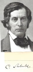 Staunch Abolitionist Charles Sumner, Nearly Beaten to Death for His Views -- His Autograph