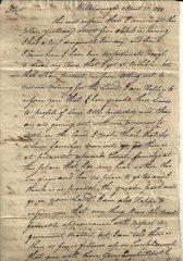 1780 Land Letter Sent to Corrupt Partner of Declaration of Independence Signer Robert Morris; Drunk Agent, Men with Guns