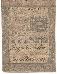 1773 Colonial Currency, PA; Baltimore Savings, Chambersburg Savings Fund