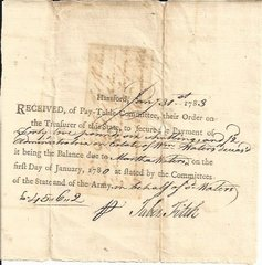 French & Indian War, Revolutionary War: Documents Signed by Soldier, Federalist Congressman: Lamb's Regiment