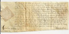 Ex-Constable in Albany Order Arrested for Non-Payment of Debt -- Beautiful Early American Document