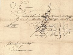 Revolutionary WAR-DATE Pay Order Signed by Oliver Wolcott, Jr. -- 1779