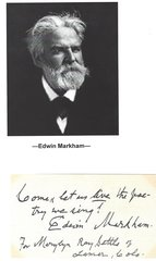 """Come Let Us Live the Poetry We Sing"" -- Poet Edwin Markham Offers Quote"