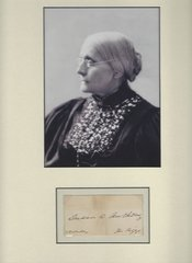 Women's Rights Pioneer Susan B. Anthony, Autograph, Photograph