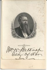 Grant's Secretary of War Belknap, Impeached for Bribes, Signed Photograph