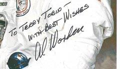 Space Hall of Fame Astronaut, American Hero Al Worden -- His Inscribed Photograph