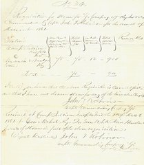 47th Regiment Indiana Vols Receive 900 Pounds of Straw; Civil War Navy Supply Ledger Sheet