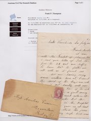 Civil War Letter: WI 16th Meets 500 Rebels; Nearly Captured; Original Cover, Research