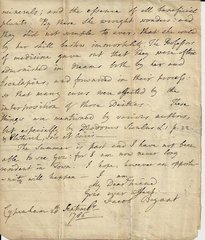 British Scholar Jacob Bryant Wrote of Goddess' Immortality, Association with Medicine; Fine Letter of Content