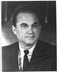 Segregationist Georgia Gov. George Wallace Inscribes Photograph; ALS from Racial Theorist Ripley
