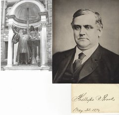 Supporter of Lincoln, Abolitionist, Famed Clergyman Phillips Brooks -- His Autograph
