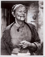 Academy Award Winning Estelle Parsons with a Corn Cob Pipe -- Inscribed Photograph