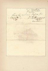 Civil War-Date Rear Admiral David Farragut Sends Note from His Flag Ship USS Hartford