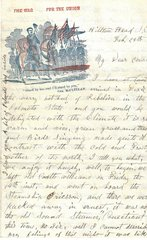 2 Civil War Letters: MA 28th Private Wounded at Bull Run; Great Fight at Hilton Head