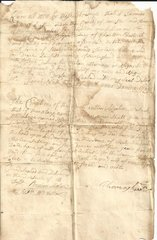 Early Quaker Worcester, MA, Pioneer, Physician Thomas Green Signs Colonial Land Document