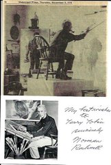 Illustrator Norman Rockwell Sends Sentiments, Autograph to Well Wisher