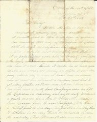 Colonel Prey write to Colonel Wiley: 104th NY Has Hard Campaign Since Leaving the Rapidan