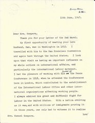 British Labor Leader Bevin Comments on Gompers' Contributions to American Labor