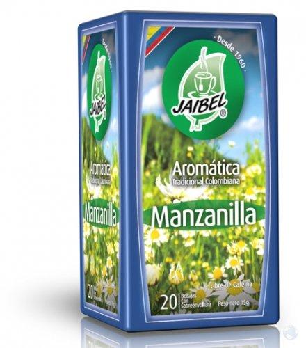 Aromaticas Manzanilla jaibel x 20 Sobres