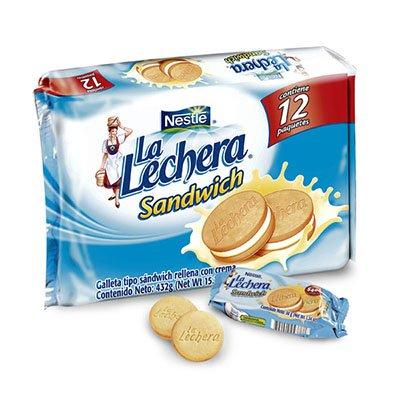 La Lechera Sandwich x 12 Unidades 437g