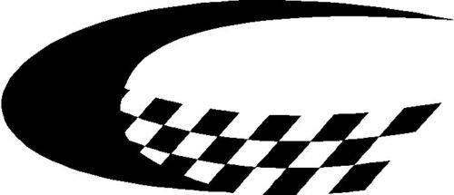 Checkered Flag Swoosh Vinyl Graphic Decal Rapid Grafiks