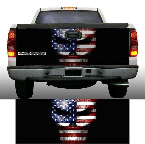 American Flag Skull Truck Tailgate Wrap Rapid Grafiks