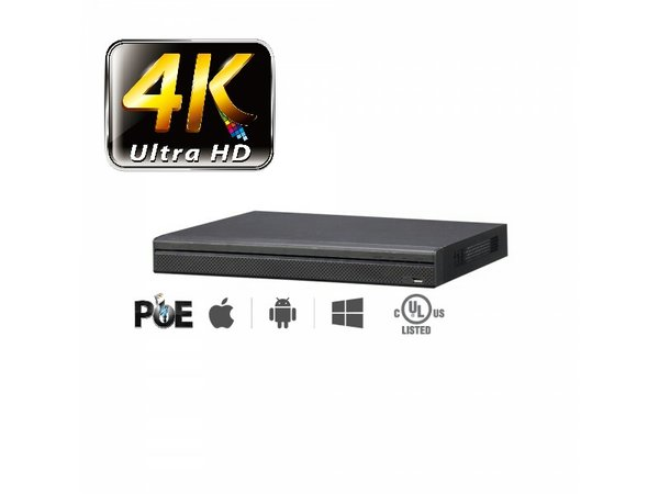 16 Channel 4K Network Video Recorder with 8 CH PoE (NVR)