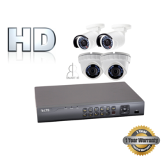 Four 2.1MP Security Camera Bundle with Installation