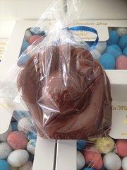 Chocolate Baseball Glove and Ball