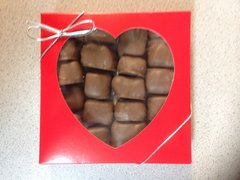 Peanut Butter Sponge Candy Valentines