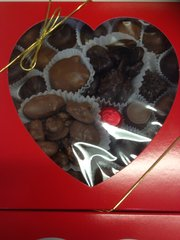 1 LB - Heart Box Assorted Chocolates
