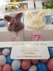 Chocolate Happy Bunny Lollipop