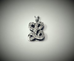 14 kt. white gold diamond initial .20 carat total weight